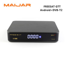 Original FREESAT GTT Android 6.0 TV BOX+DVB-T/T2/Cable Amlogic S905D 1GB RAM 8GB ROM built wifi KODI pre-installed youtube