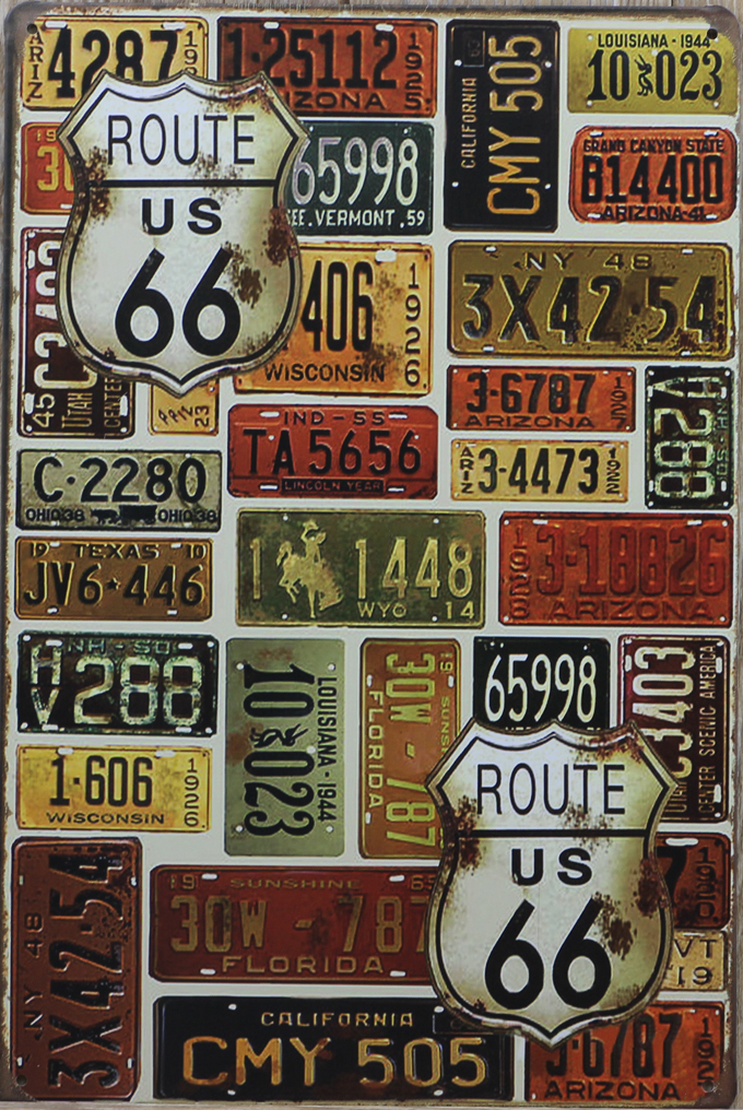 Usa Main Road Route 66 20 30cm Metal Tin Sign Poster Vintage Wall Decor Retro Art On Aliexpress Alibaba Group