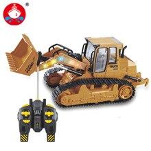 รถบรรทุก 6CH รถแทรกเตอร์จำลองรถก่อสร้างของเล่นอิเล็กทรอนิกส์สำหรับเด็กของขวัญ รีโมทคอนโทรล