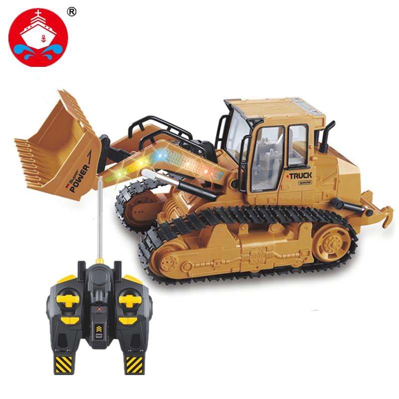 RC Truck 6CH Bulldozer Caterpillar Traktor Fjernbetjening Simulering Byggekøretøj Elektronisk Legetøj Game Hobby Model