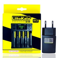 Liitokala Lii-S4 LCD 3.7V 18650 18350 18500 21700 20700B 20700 14500 26650 1.2V AA AAA NiMH lithium-battery Charger+5V 2A socket Battery Chargers