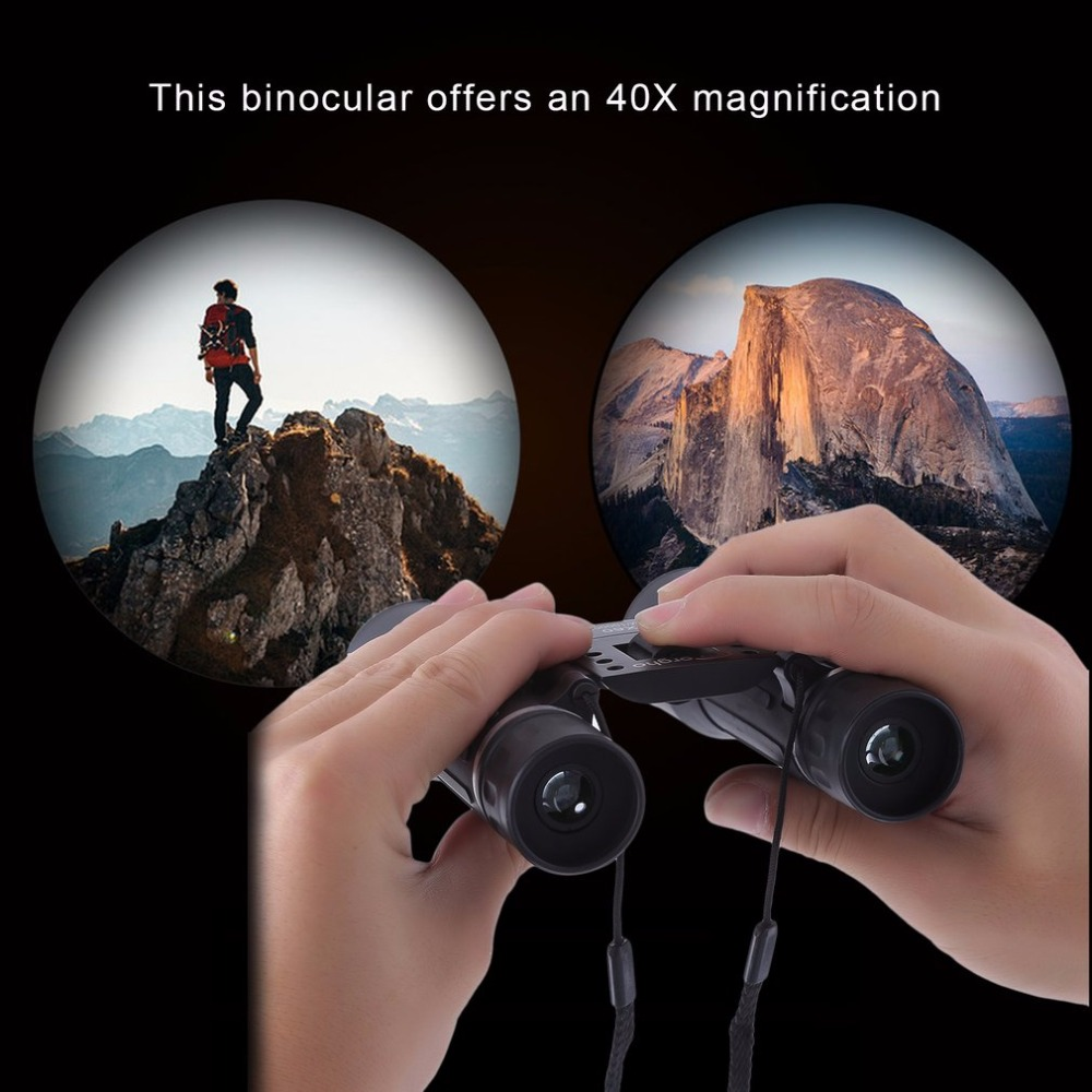 40x60 HD Outdoor Travel Binocular Zoom Field Glasses Powerful Hunting Telescopes Day Night Vision Handheld 1500M/1000M View