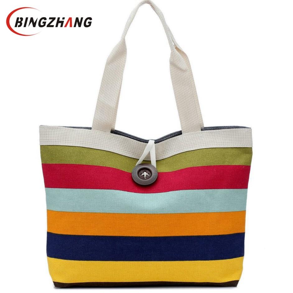 88410334f59ea Tęczy kobiet fala płótnie torba na zakupy torba duże przyciski brytyjski  kratę torebki hotsale panie party mufy shoulder bags L4-836