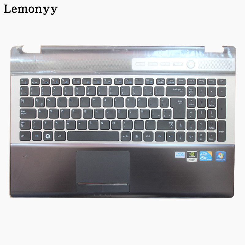 NEW LA keyboard FOR SAMSUNG NPRF510 RF511 Latin Laptop Keyboard With Touch Palmrest COVER TopCase laptop keyboard for for sony vpc ea black without frame latin la v081678d 148792351