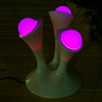 Mushroom Shaped LED Color Changing Magic Lamp Cute Glowing Balls Creative LED LampsNight Light For Children