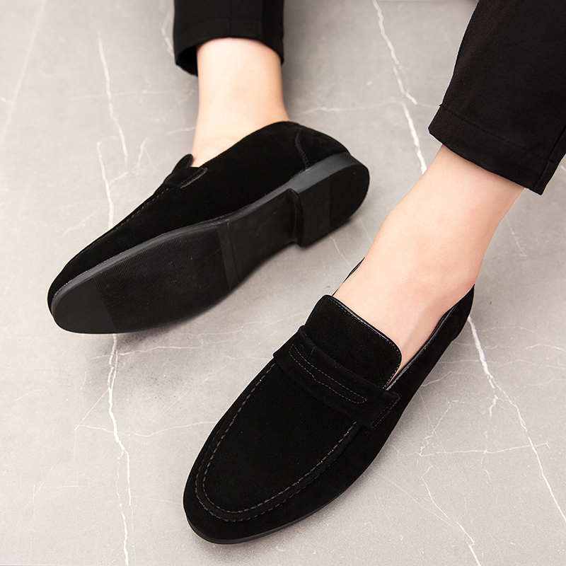 2019 Slip On Men Casual Shoes Comfortable Fahsion Luxury Brand High Quality Suede Leather Slipper Loafers Summer Shoes L4