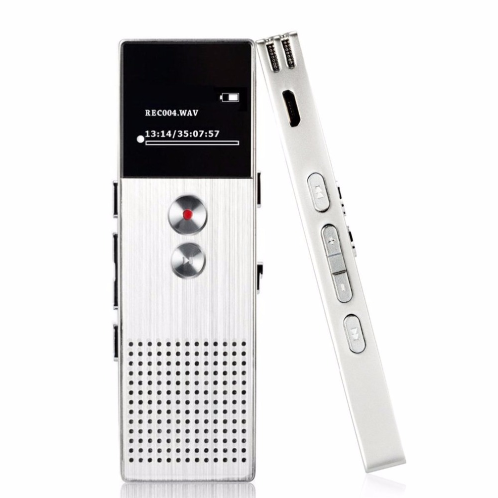 Professional Audio Recorder HD Dual Microphone Recording Digital Voice Recorder Telephone Recording MP3 Player Support TF Card