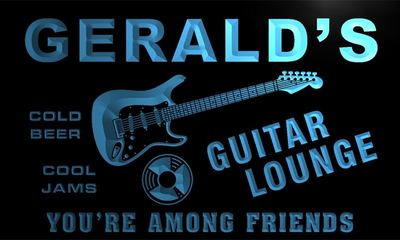 x0058-tm Geralds Guitar Lounge Custom Personalized Name Neon Sign Wholesale Dropshipping On/Off Switch 7 Colors DHL