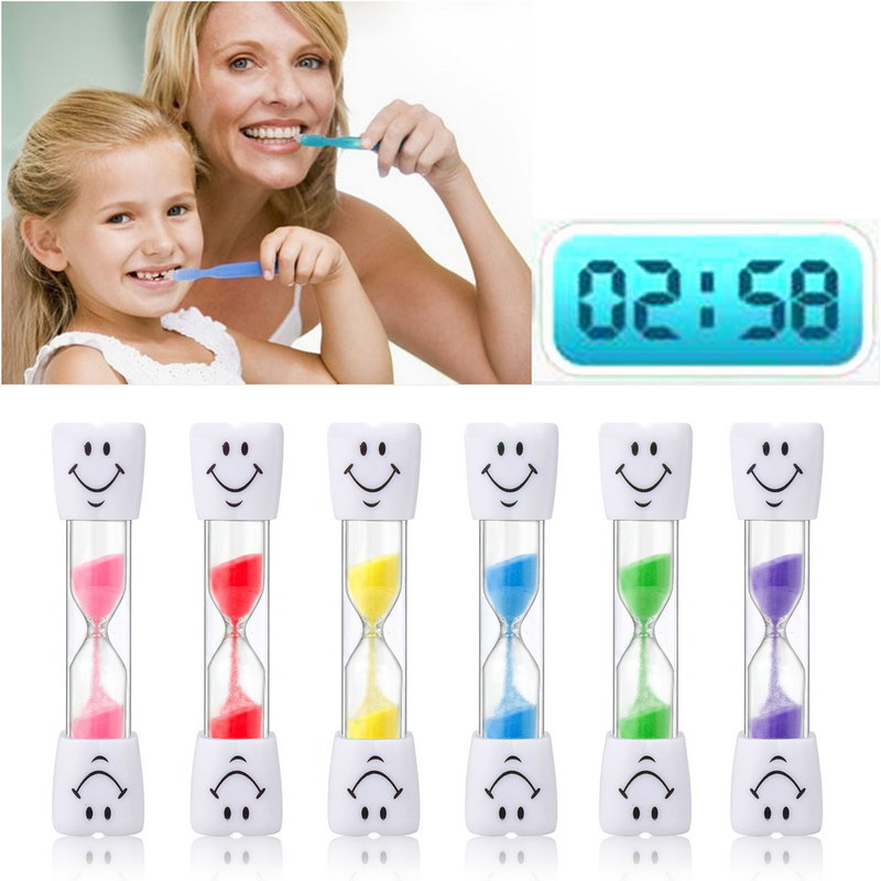 Sand Clock 3 Minutes Smiling Face The Hourglass Decorative Household Items Kids Toothbrush Timer Sand Clock Gifts image