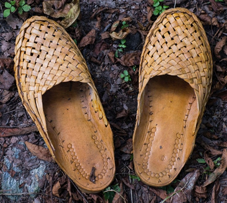 Genuine Leather India, Nepal Flat Slippers Pure Handmade Camel Leather Woven Weaving Slide Cool Drag Men's Shoes Real Leather