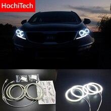 HochiTech cho Kia Sportage 2011 2014 Siêu sáng SMD LED trắng mắt thiên thần 2600LM 12 v halo nhẫn kit chạy ban ngày ánh sáng DRL