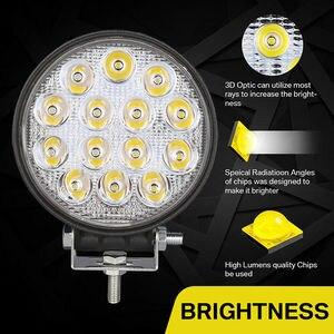 Image 3 - OKEEN 4 inch 42W Square LED Work Light Spotlight 48W LED Light Bar For 4x4 Offroad ATV UTV Truck Tractor Motorcycle Fog lights