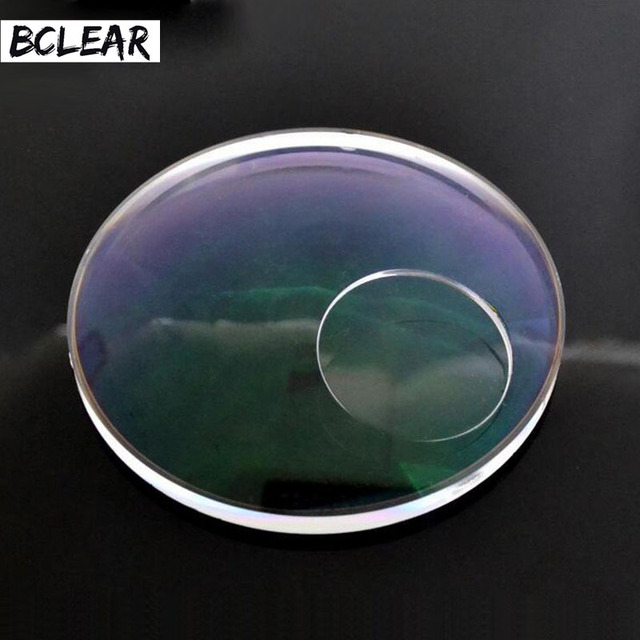 8a79e18d3a8d2 BCLEAR 1.49 Refractive Index Round Top Spectacle Prescription Bifocal Lenses  to Far and Near