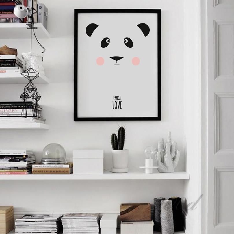 Cartoon Panda Leinwand Kunstdruck Poster, Wandbilder für ...