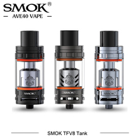 Original SMOK TFV8 Tank 6ml Electronic Cigarettes Atomizer Support 0.12ohm 300W Power with TFV8 Q4 T6 T8 T10 X4 Coil Head Tank