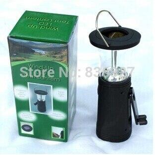 LED Portable lantern wind-up LED tent lantern three source lamp solar lantern fishing light camping lantern