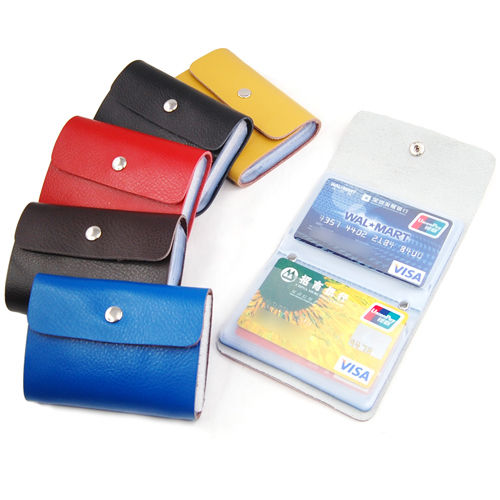 DCOS Leather Wallets Credit Card ID Business Case Purse Men Women ...