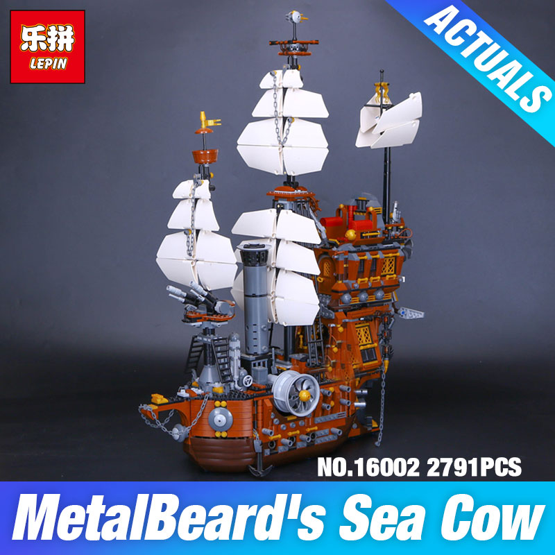 DHL LEPIN 16002 Pirate Ship Metal Beard's Sea Cow Model Building Set Blocks Bricks Kits 70810 Children Toys DIY Christmas Gifts