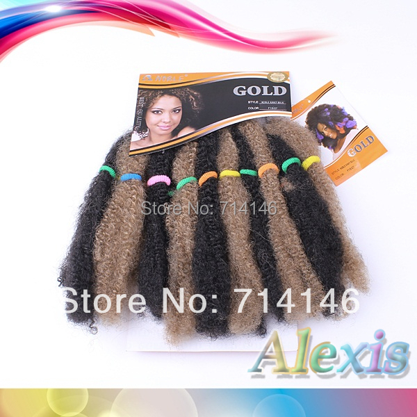 Noble Queen Hair Noble Gold Kinky Bulk Styling Kinky Curly Synthetic