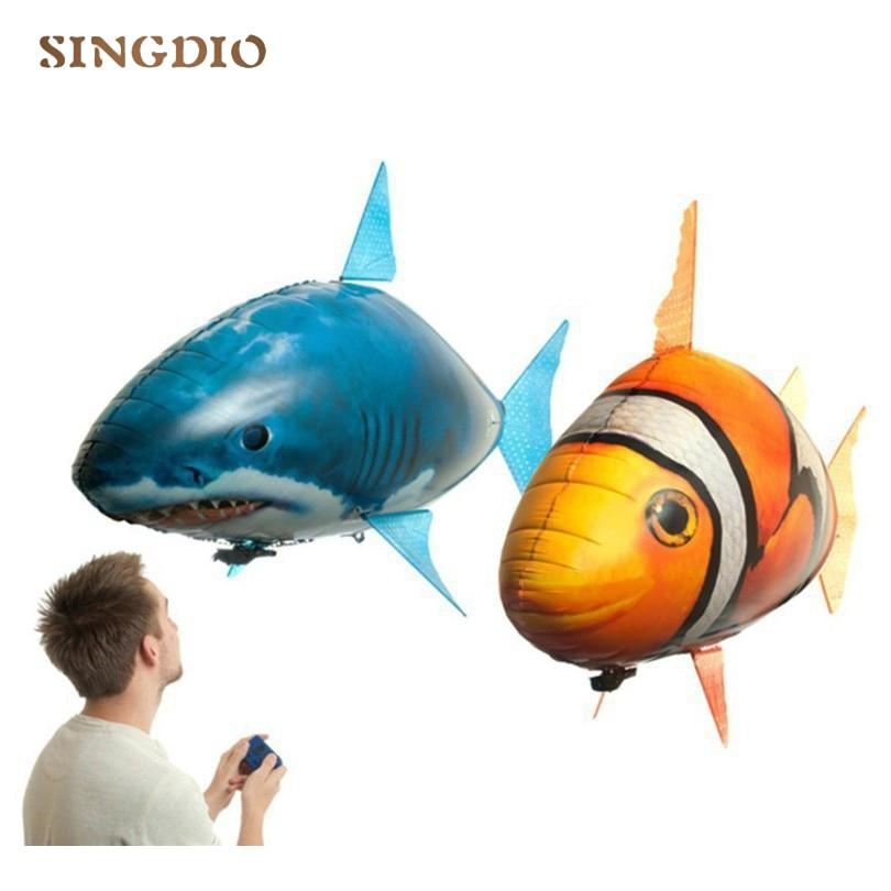 Heißer Verkauf RC Kinder Spielzeug Kinder Schwimmen Fisch Spielzeug Elektrische Shark Clown Fish Luftballons Luft Fliegen Kinder Lustige Spielzeug Geschenke für Kinder