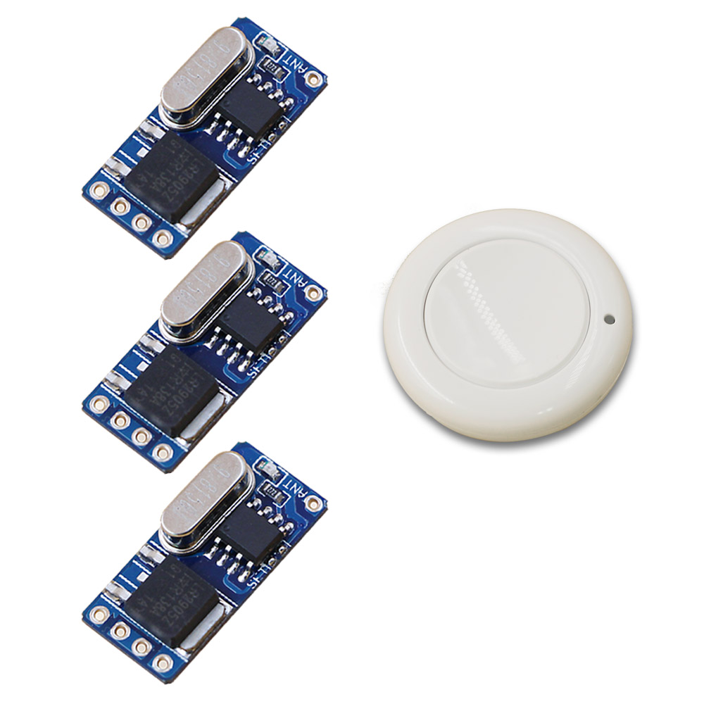 DC3.6V 4.5V 5V 9V 12V 1Remote Control Switch Micro Mini RF Receiver Transmitter 315/433.92 White Color Wireless Switch New Item самокат 978 5 91759 315 9