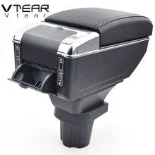 Vtear для Honda CRZ подлокотник коробка usb зарядка повышение двойной слой центральный магазин содержание держатель стакана, пепельница аксессуары 10-18