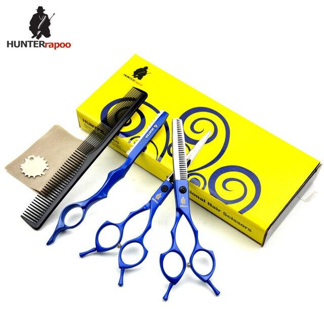 "30% Off HUNTERrapoo HT9170 5.5"" Hair Scissors Set Thinning Scissor Hairdressing Shears kit barber DIY Tools Haircut scissors"
