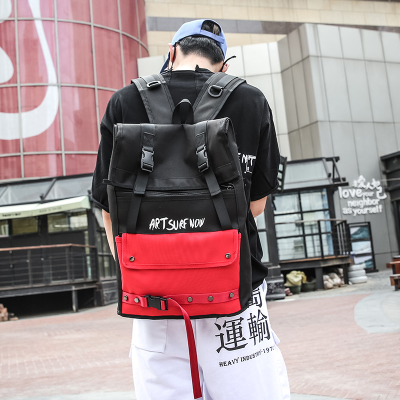 Hot Sale Fashion Ulzzang Large Capacity Backpack Unisex Student Backpack College Wind Couple Contrast Color Computer Backpack 1