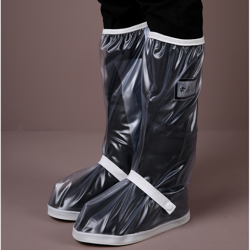 1 Pair Cycling Shoe Covers Waterproof Rain Thicken Road Bike Overshoes Transparent High Tube Reusable Boots Cover Shoes For Men