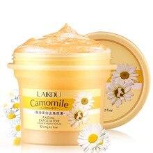 Facial Cleanser Natural Organic Facial Exfoliator Exfoliating Cream Whitening Peeling Cream Gel Face Facial Scrub Removal 120g
