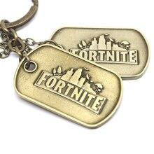 Fortnited Key Chain Bag Pendant Ring's fortnight Game tnite fortnited enfant Antique Copper Arts Collection Best Gift