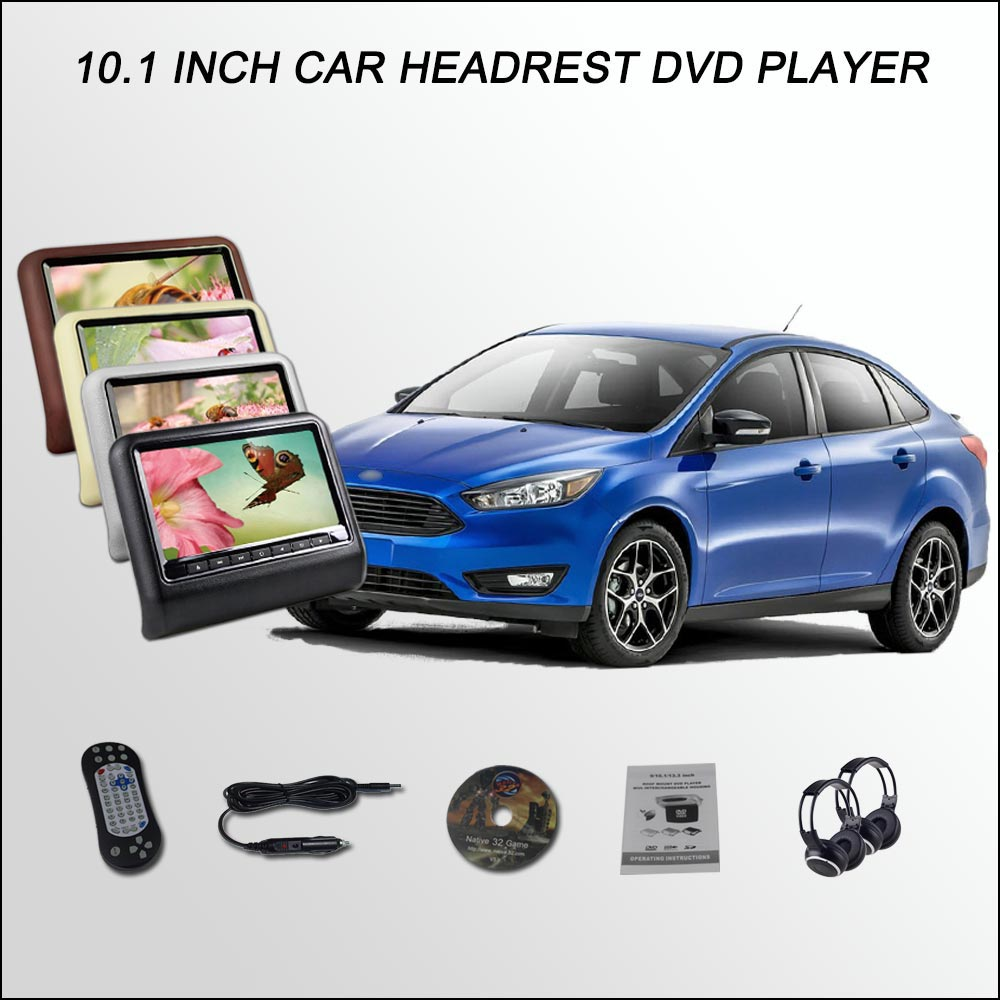 bigbigroad for ford focus sedan 10 1 car headrest monitor car digital lcd screen support hdmi ir usb sd dvd player games [ 1000 x 1000 Pixel ]