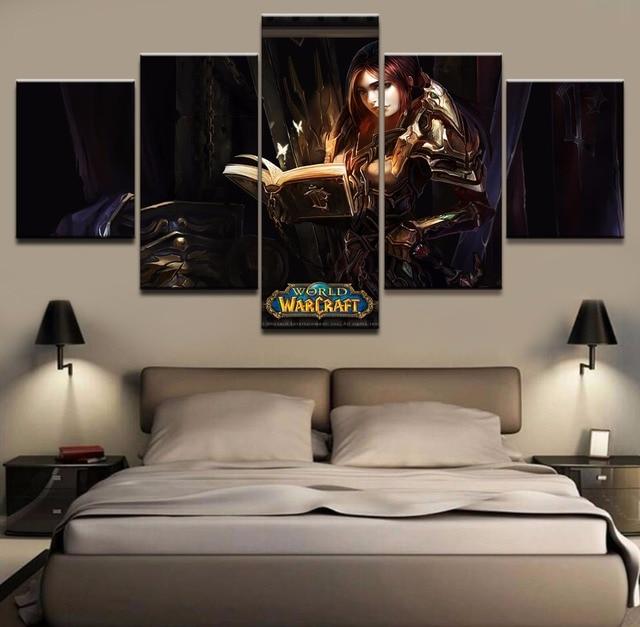 Spiel World Of Warcraft Abbildung 5 Stcke Poster Leinwand Gedruckt Malerei Dekoration Wohnzimmer Wand Moderne Bilder