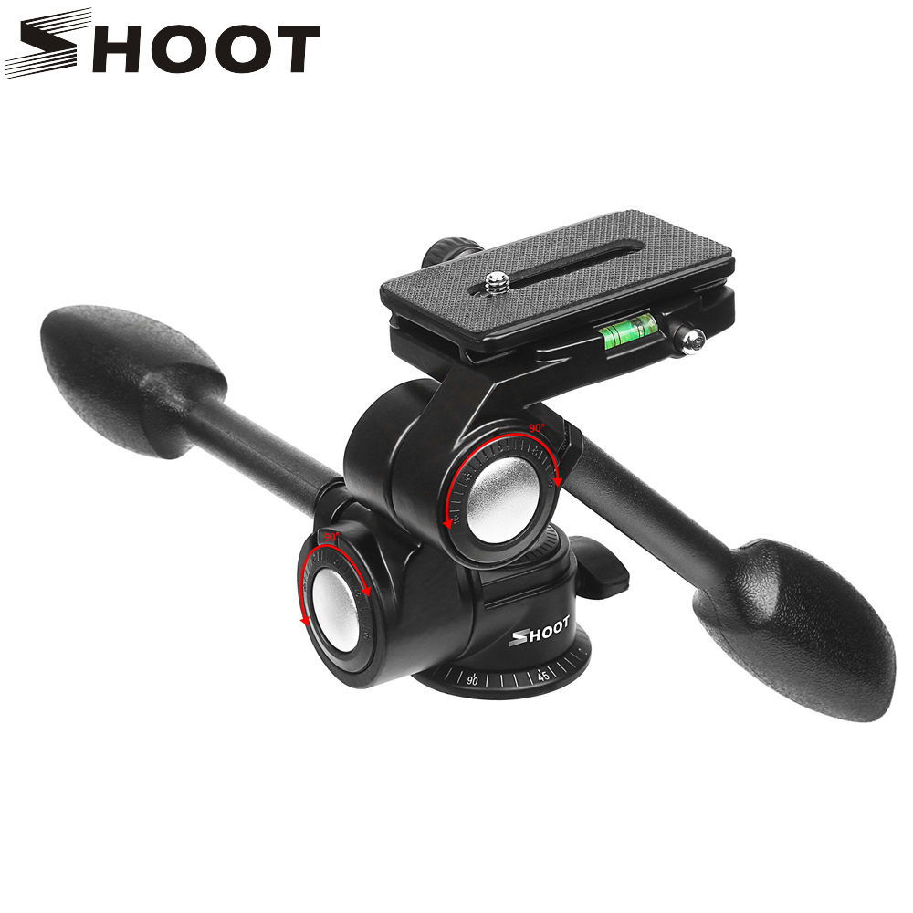 SHOOT Aluminum Handheld Panorama Panhead Ball Head 3 Way Panhead Camera Mount Tripod for DSLR Camer Tripod Monopod Load 10KG цены