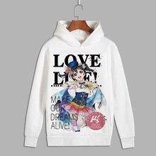 Amour Live Cosplay Minami Kotori Eli imprimer pull à capuche sweats Nico hommes Tojo Nozomi unisexe polaire à capuche pour lautomne