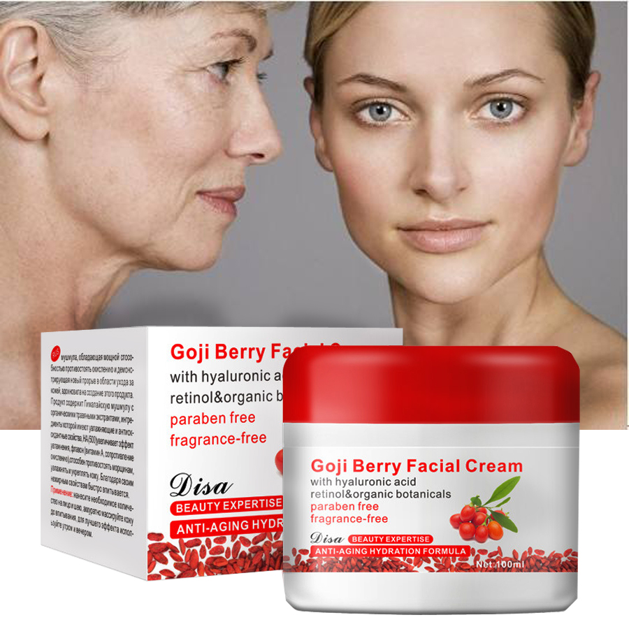 2017 Hyaluronic Acid Goji Cream Goji Berry Facial Cream Medlar Multi Effect Anti Wrinkle Inhibit The Activity Of Tyrosinase 100g цена