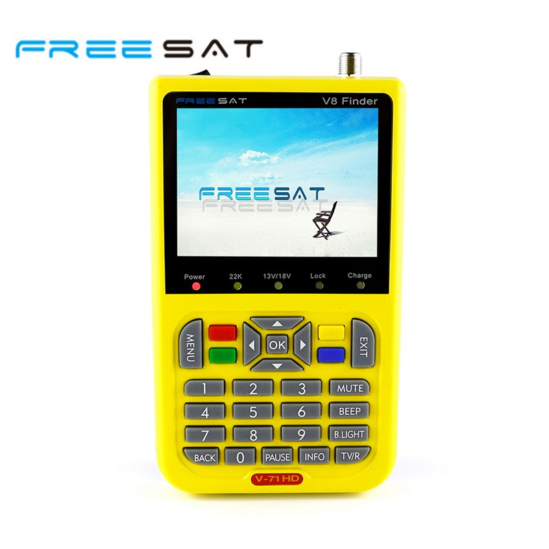 Freesat V8 Finder HD DVB-S2 Satellite Finder 3.5 Inch LCD MPEG-4 Freesat Satellite Finder