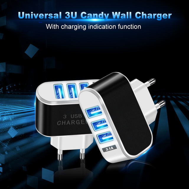 USB Charger 3 Ports