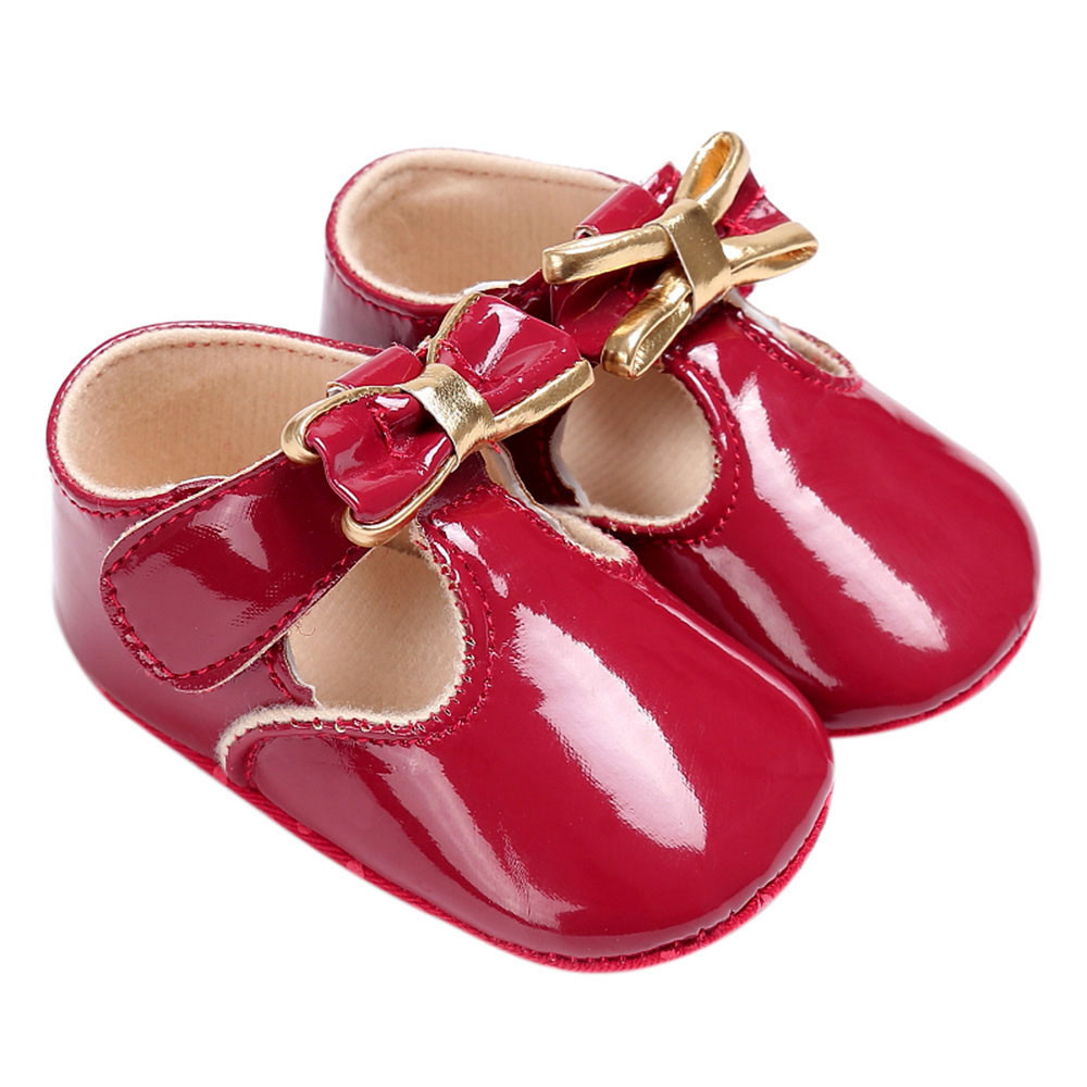 TELOTUNY Baby Infant Kids Girl Leather Toddler Newborn Shoes comfortable PU Leather Crib Shoes Soft S3FEB24