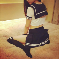 Sexy Lingerie Uniform Temptation Fantasias Sexy Student Uniform Costume Outfit Top Skirt