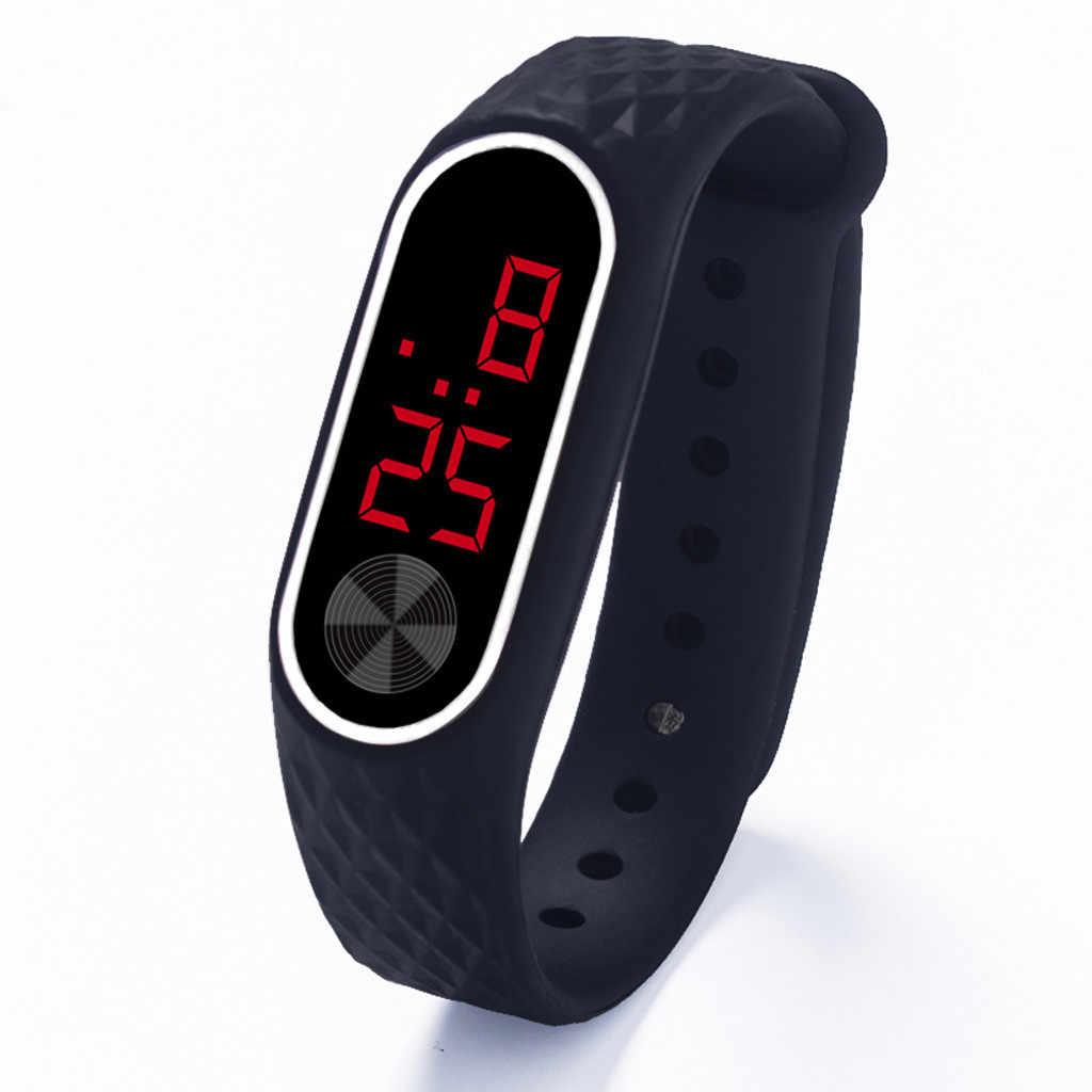 ホットメンズレディースレディーススポーツ腕時計ブレスレットデジタル腕時計リロイ hombre mujer デジタル montre オム zegarek リロイ depore