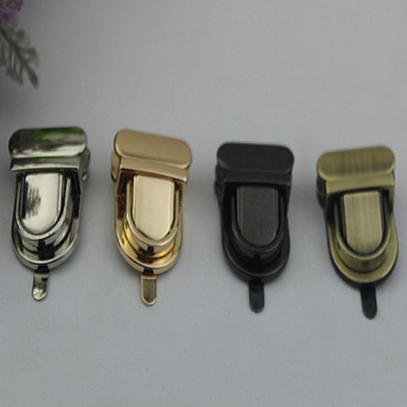 Durable Buckle Twist Lock Hardware For Bag Shape Handbag DIY Turn Lock Bag Clasp Fashion Tongue Latch