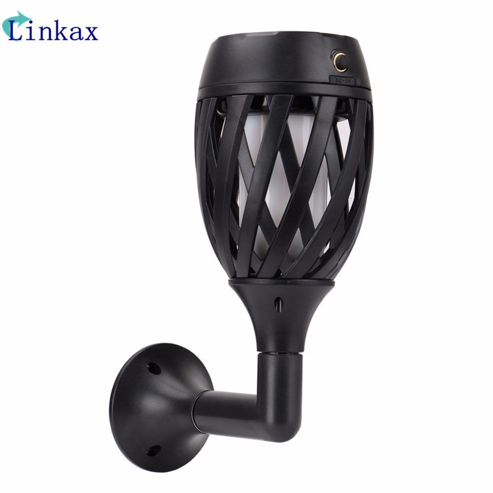 96 LED Solar Flame Flickering Lawn Lamp Led Dancing Flame Light Solar Outdoor Waterproof Wall Light Decor Lamp Solar Light