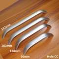 "Length 5.71"" HoleC:C: 128mm Zinc Alloy Kitchen Furniture pulls Solid wardrobe handle drawer handle"