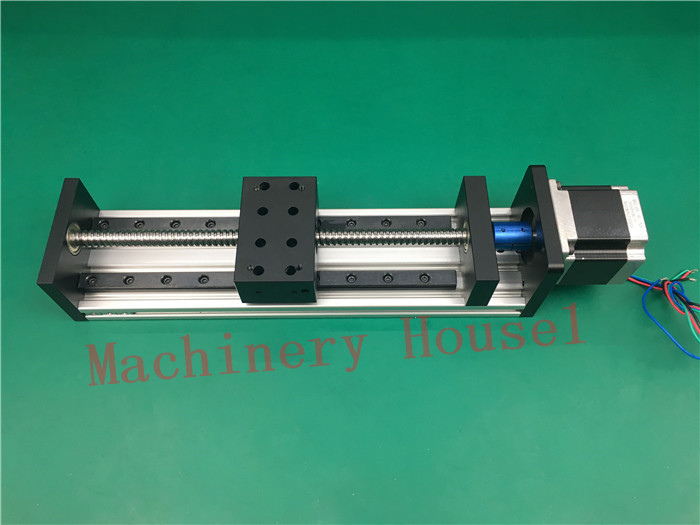 High Precision GX80*50mm Ballscrew 1204 650mm Effective Travel+Nema 23 Stepper Motor Stage Linear Motion single block toothed belt drive motorized stepper motor precision guide rail manufacturer guideway