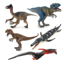 FlyingTown Jurassic Wild Life Dinosaur Toy Set Plastic Play Toys World Park Dinosaur Model Action Figures Kids Boy Gift