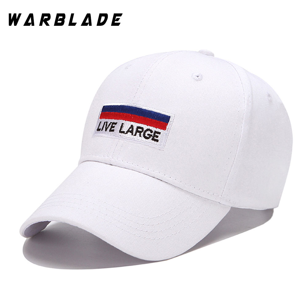 Letter LIVE LARGE Cotton Embroidery Baseball Cap Women Hip Hop Snapback Hats For Men Snap Back Bone Casquette Sun Gorras Dad Hat xthree summer baseball cap snapback hats casquette embroidery letter cap bone girl hats for women men cap