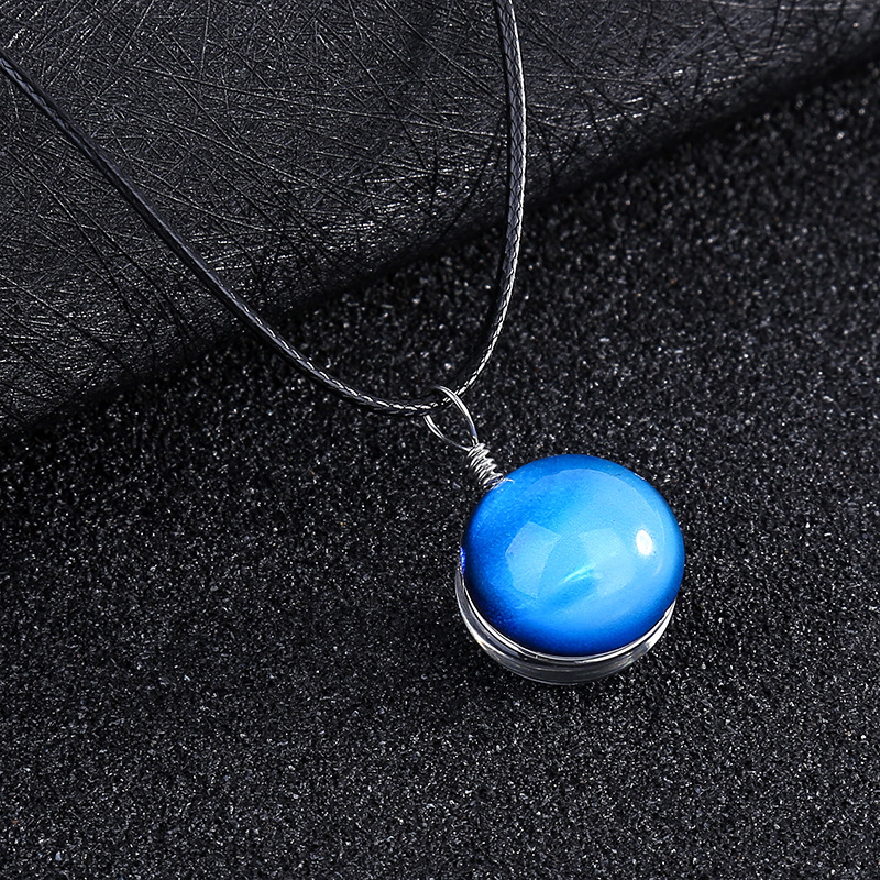 ZMZY Fashion Jewelry Big Long Crystal Necklace Women Necklaces & Pendants Vintage Statement Universe Necklace Glass DIY Gifts