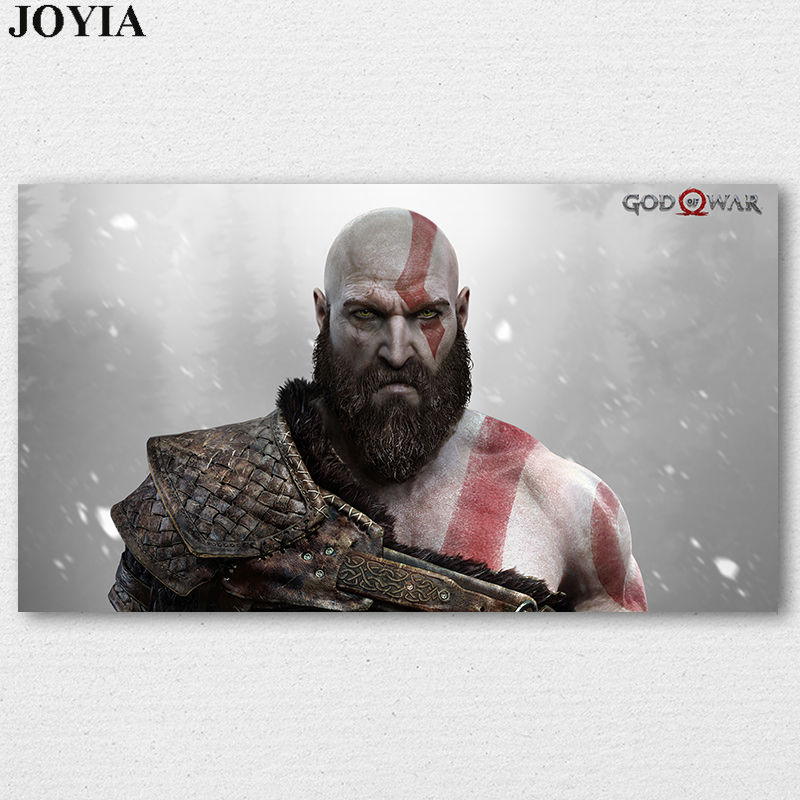 God of War Kratos PS4 Game Poster Kratos Prints Wall Art