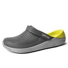 Bãi Biển mùa hè Giày Người Phụ Nữ Ngoài Trời Dép Thoáng Khí Giày Sandal Nam Chống Trượt Trượt Cặp Đôi Dép Trơn Crocse Zapatillas